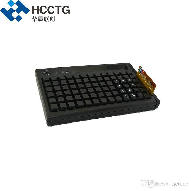 High Quality PS/2 + USB Dual Interface Membrane 78 Keys Programming POS Keyboard with MSR KB78M-S