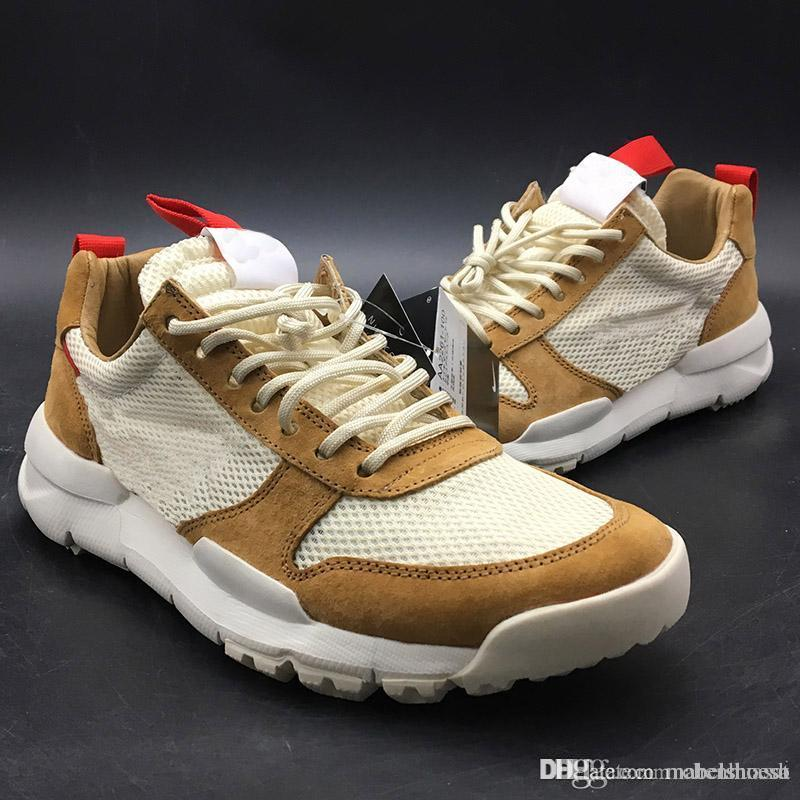 4cca3ca1f 2018 Craft Mars Yard TS NASA 2.0 Tom Sachs Designer Running Shoes Sport  Sneakers Outddor Trainers Athletic Trails Mens Womens Brand Shoe Designer  Shoes Tom ...