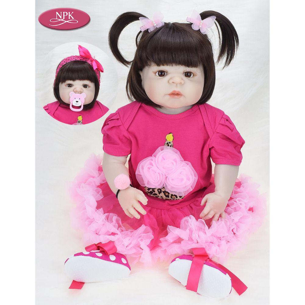 2ecd8f13b NPK 57CM Full Body Soft Silicone Girls Reborn Baby Doll Bathe Toys Lifelike  Princess Girl Dolls Bebe Real Reborn Boneca Menina Free Visual Novels Car  ...