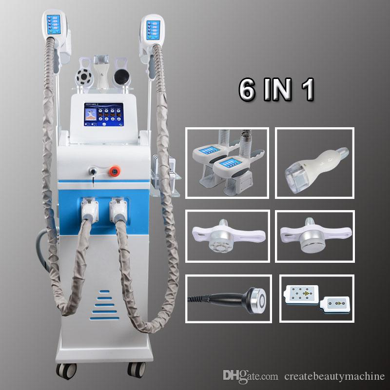 Fat Freezing Machine cryotherapy slimming Cavitation RF Machine Fat  Reduction device 2 cryo Heads Working together