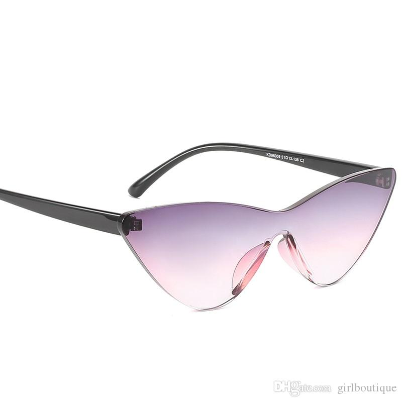 Lady Eye Little Large And Cat Sunglasses Sexy Integrated Retro Black Pink Colored With 2018 Cute Candy Frame H29YEeWDI