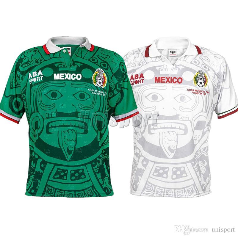Compre S XXL Copa Do Mundo De 1998 Retro México Camisas De Futebol Zidane  Henry Camisa De Futebol Futbol Camisa Do Vintage Mexicano Camiseta Kit  Maillot De ... 8c339a62cef45