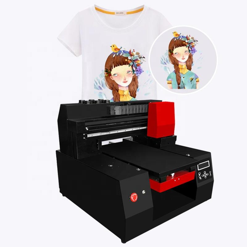 Direct to printing pattern on t shirt printing machine A3 digital t-shirt  printer