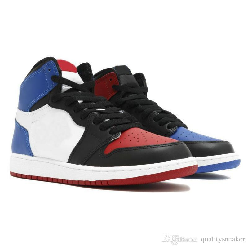 designer fashion 1a411 ddd0b New 1 High OG Bred Toe Banned Top 3 Game Royal Basketball Shoes Men 1s  Shattered Backboard Shadow Sneakers High Quality With Box
