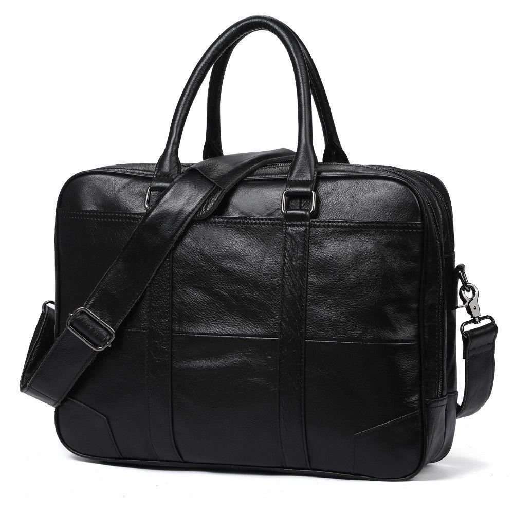 Men Crossbody Bags Genuine Leather Vintage Men Bag Handbag Business Casual Men s  Travel Laptop Bag Shoulder Bags Tote Briefcase Briefcases Cheap Briefcases  ... 9c2e63767e1fb