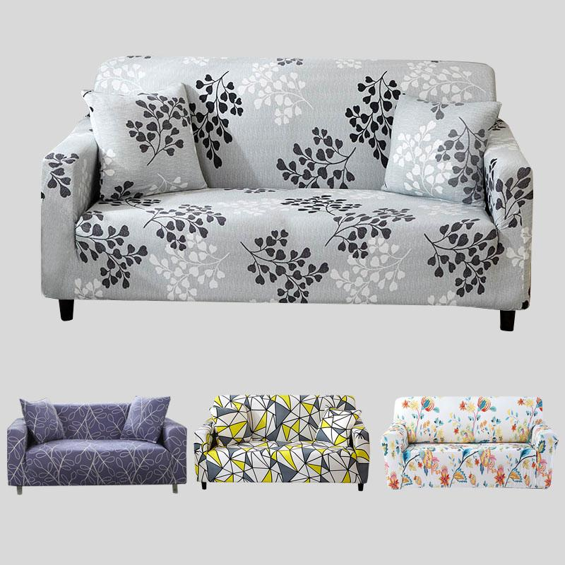 Gray Sofa Cover Stretch Furniture Covers Elastic Sofa Covers For Living  Room Slipcover seat cover spandex couch 1-4 seater