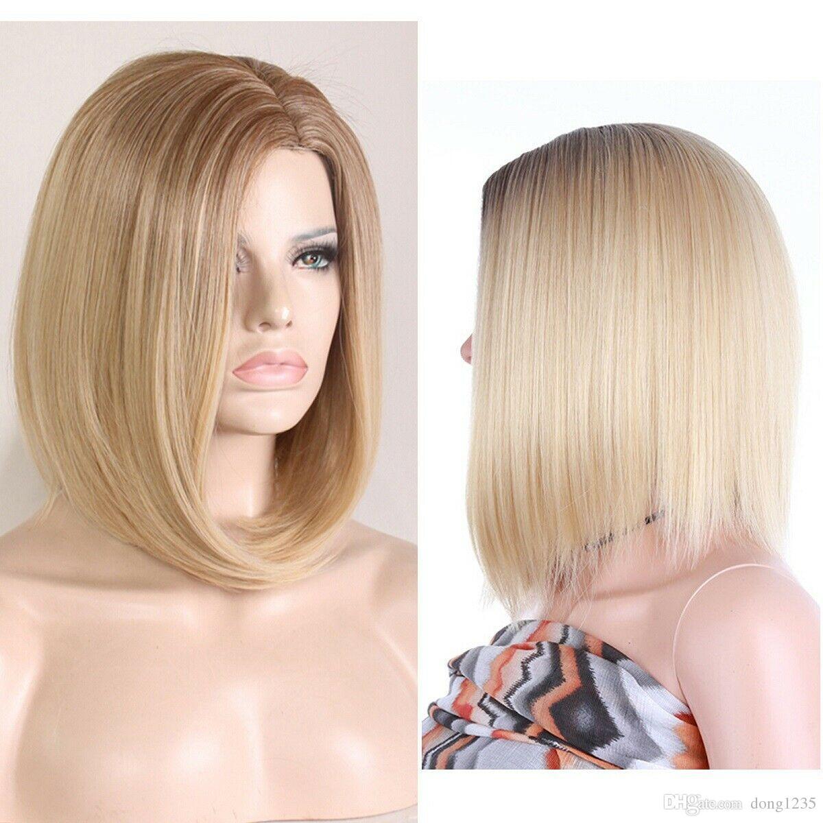 Ladies Short Wig Blonde Wig Bob Style Fashion