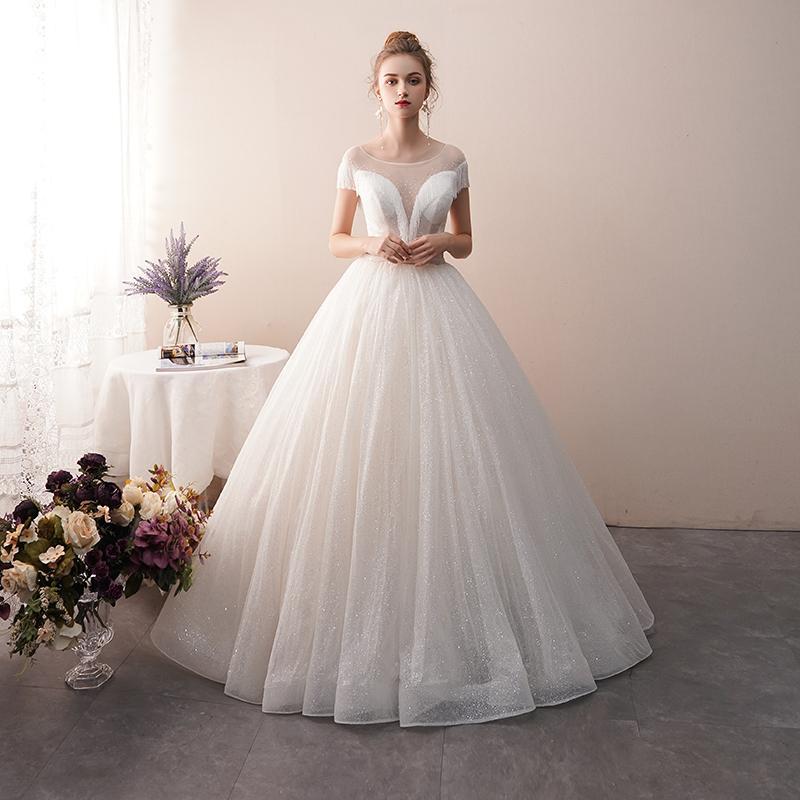 new styles f6cb4 7d5b8 Nuovo abito da sposa da sposa monospalla lusso principessa sogno semplice  inverno