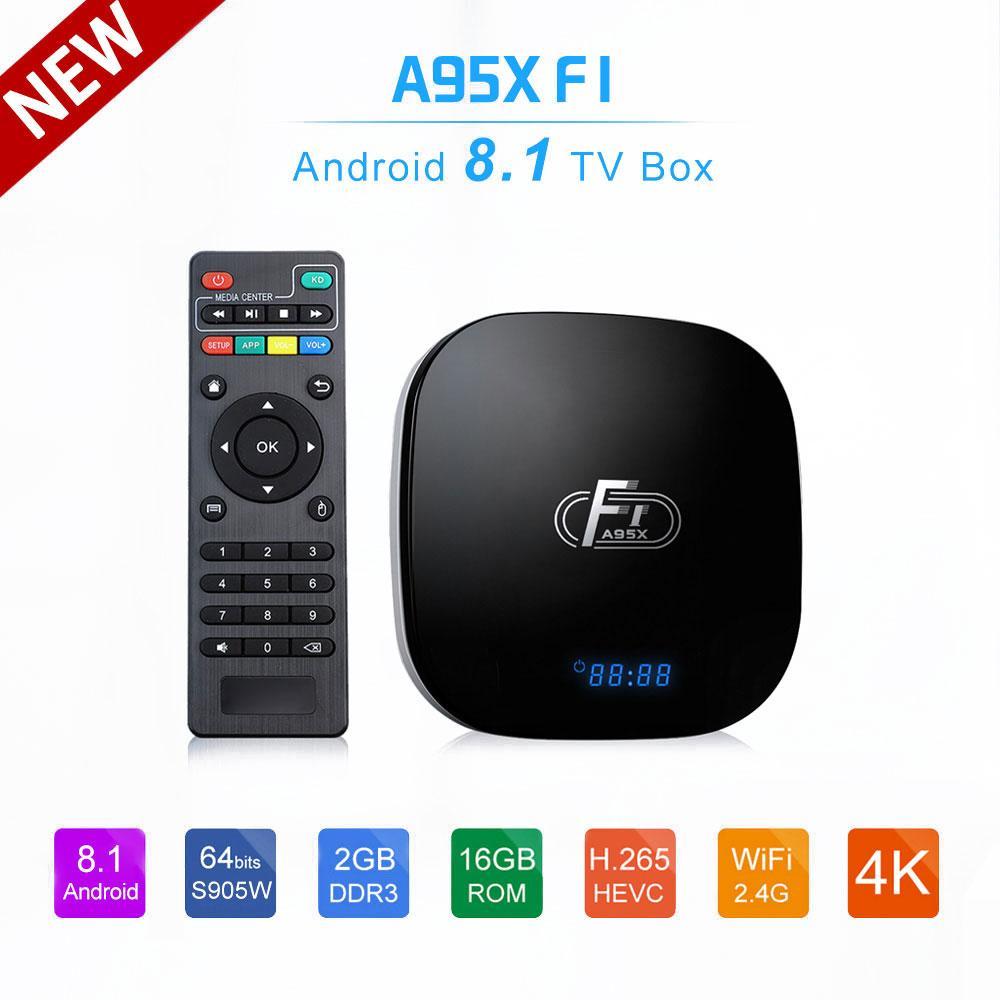 A95X F1 Smart TV Box Android 8 1 Set Top Box Amlogic S905W 4K 2GB 16GB  2 4GHz WiFi Media Player PK X96 mini TV Box