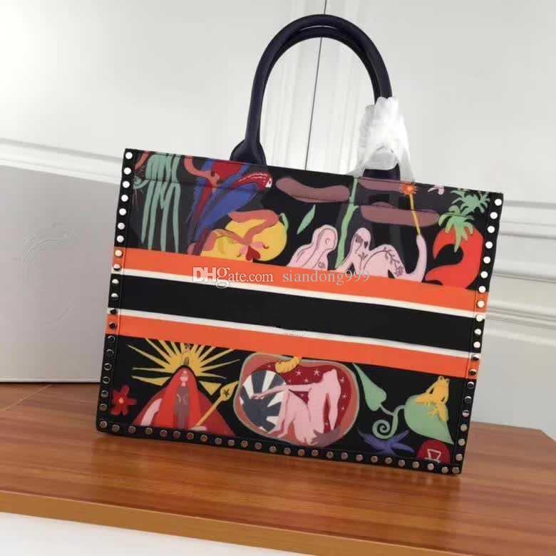 06daa99c2a New Luxury Women S Designer Book Tote Handbags High Quality European Style  Famous Branded Ladies Genuine Leather Totes 42CM Shoulder Bag Ladies  Handbags ...