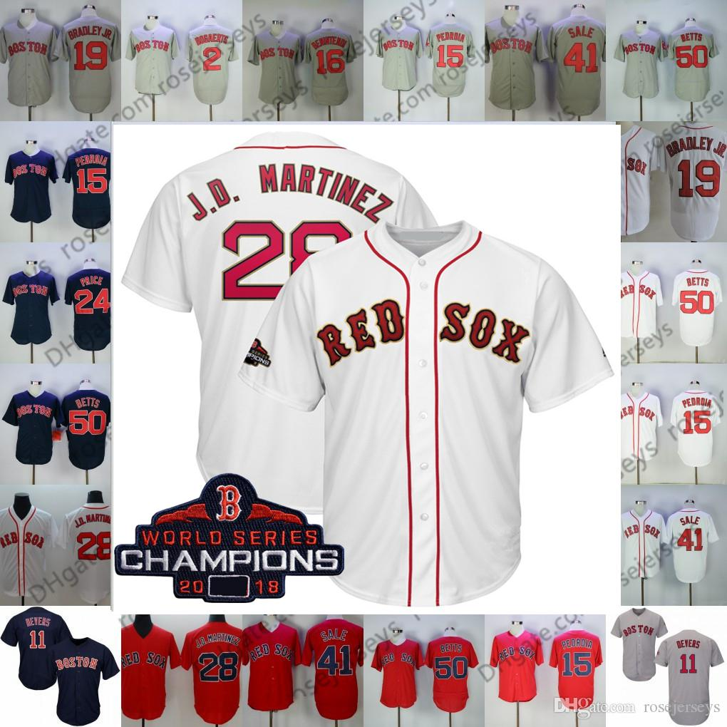 27d781be6a154 2019 Cusom Red Sox Majestic White 2019 Gold Program Jersey Boston Chris  Sale David Price Rafael Devers Andrew Benintendi Holt Men Youth Kid Women  From ...