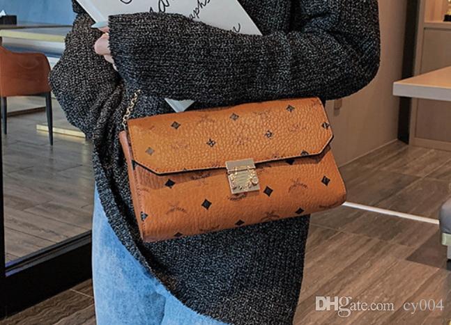 Yüksek Kaliteli Başlangıç Messenger Çanta kadınlar ünlü markaların omuz çantaları çanta sırt çantası baskı crossbody çanta pu Deri debriyaj çanta zincirle