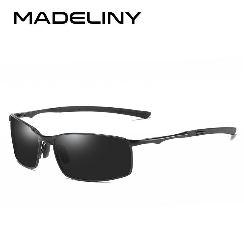 16fe252068 MADELINY Sunglasses Men Driver Mirror Metal Sun Glasses Fashion ...