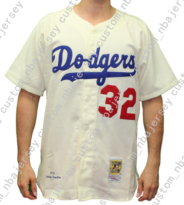 7113609ac32 2019 Cheap Custom Sandy Koufax 1955 Button Up Jersey Stitch Customize Any  Number Name MEN WOMEN YOUTH Baseball Jersey XS 5XL From Custom nbajersey