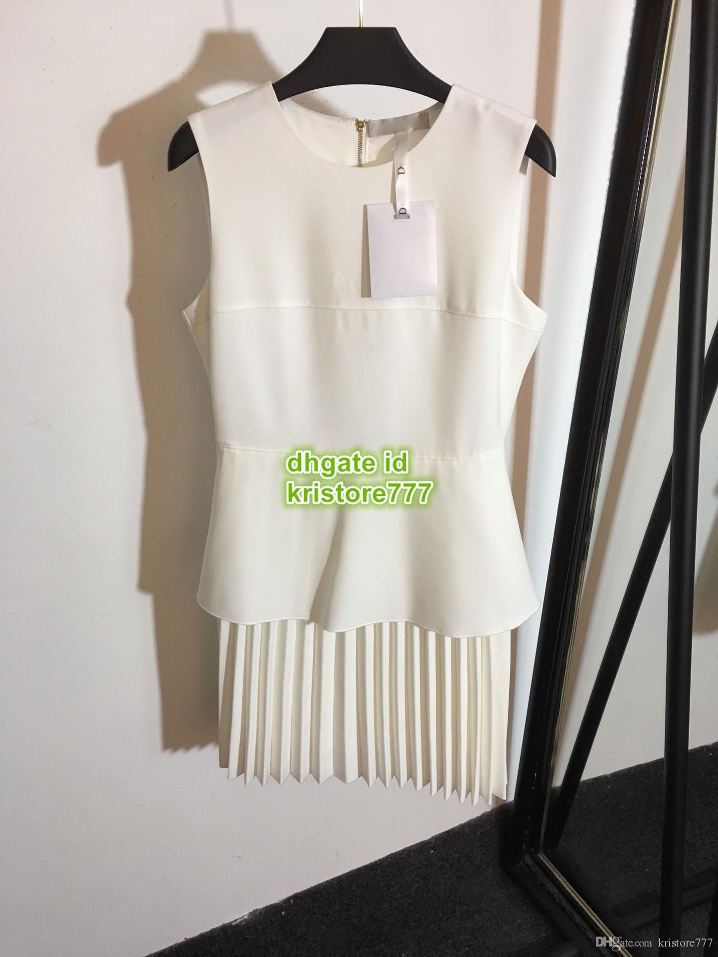 6b79047851e29 2019 Women Panelled Blazer Dress Crew Neck The High-End Custom Mini Above  Knee Shirt Pleated Dresses Summer S-M-L