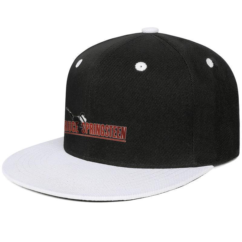 33bd472d Bruce springsteen WITH GUITAR logo Design Hip-Hop Cap Snapback Flat Bill  Brim Baseball Hat Crazy Adjustable
