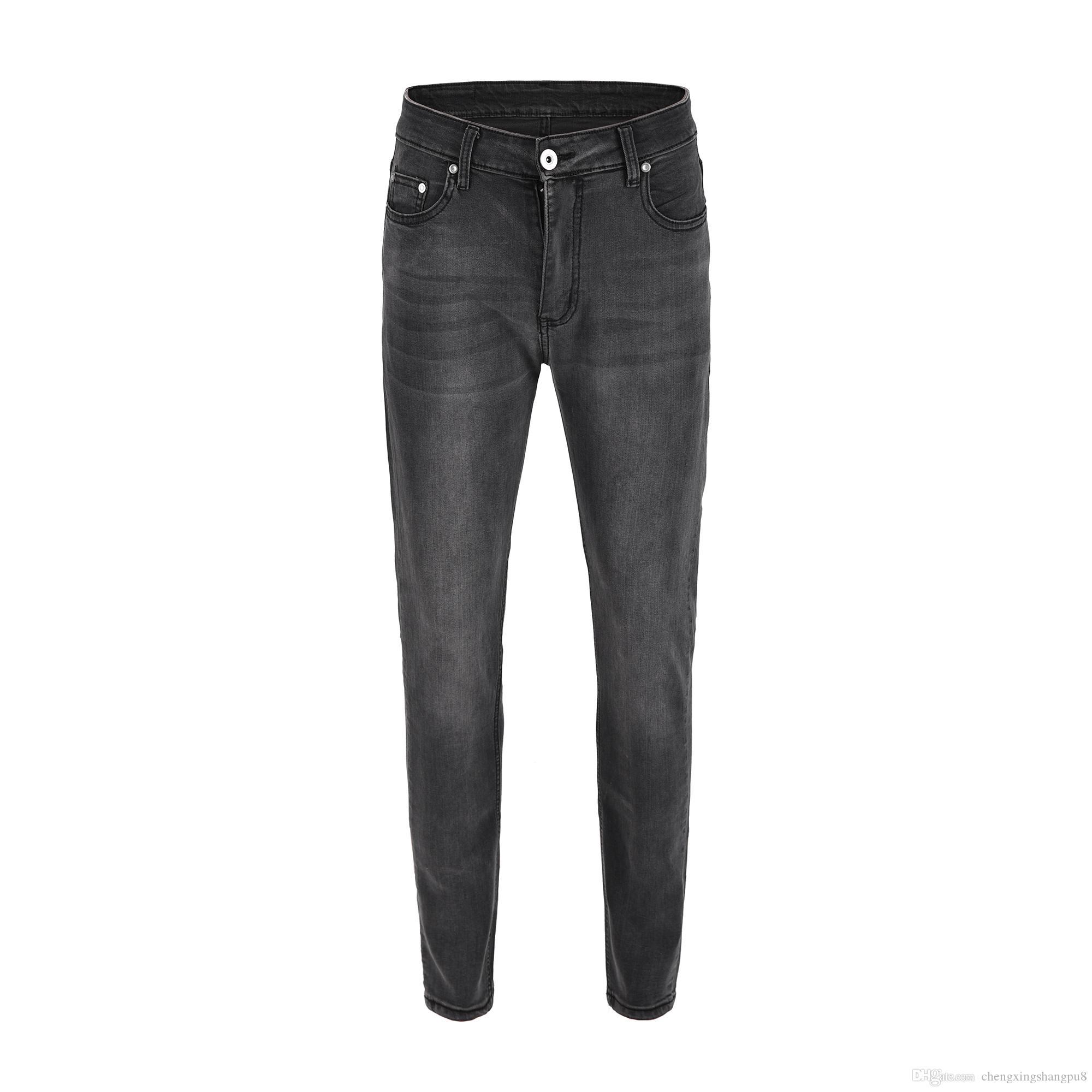 Acheter 2019 Nouveau Designer Hommes Jeans Célèbre Marque Luxe Rose Brodé  Jeans Slim Fit Hommes Imprimé Biker Denim Pantalon De  39.7 Du  Chengxingshangpu8 ... 70042e583d76