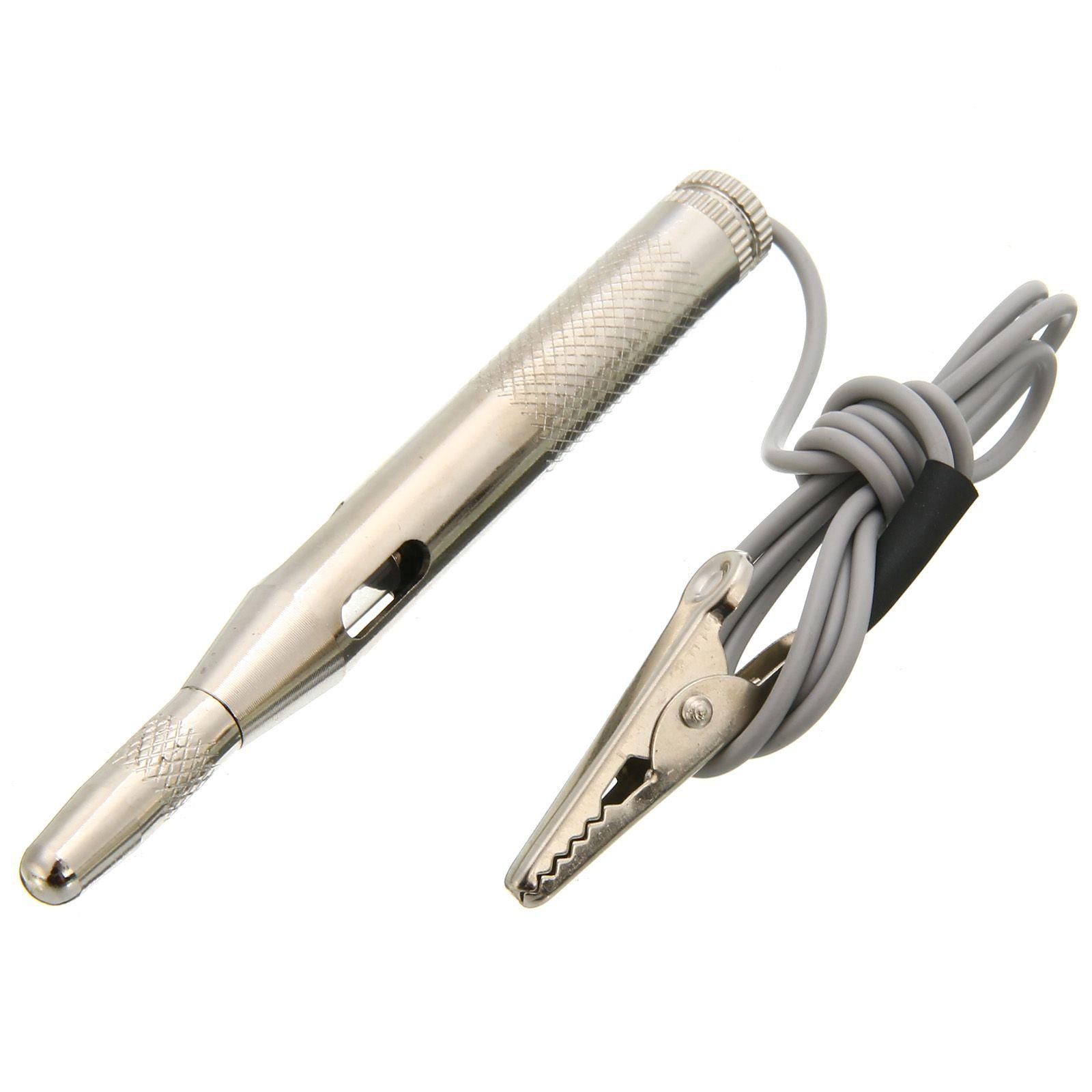 New DC 6V 12V 24V Probe Light System Test Probe Lamp Auto Car Light Circuit Tester Lamp Voltage Test Pen Detector Copper