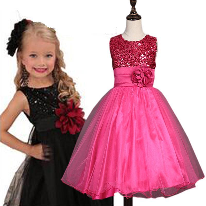 e227aa990f8d0 Acheter Adolescente Petite Fille Robe 2019 Fleur De Mariage Robes Enfants  Pour Les Filles Cérémonies Costumes De Fête Âge 3 16 Ans Vêtements De  Soirée Ds470 ...