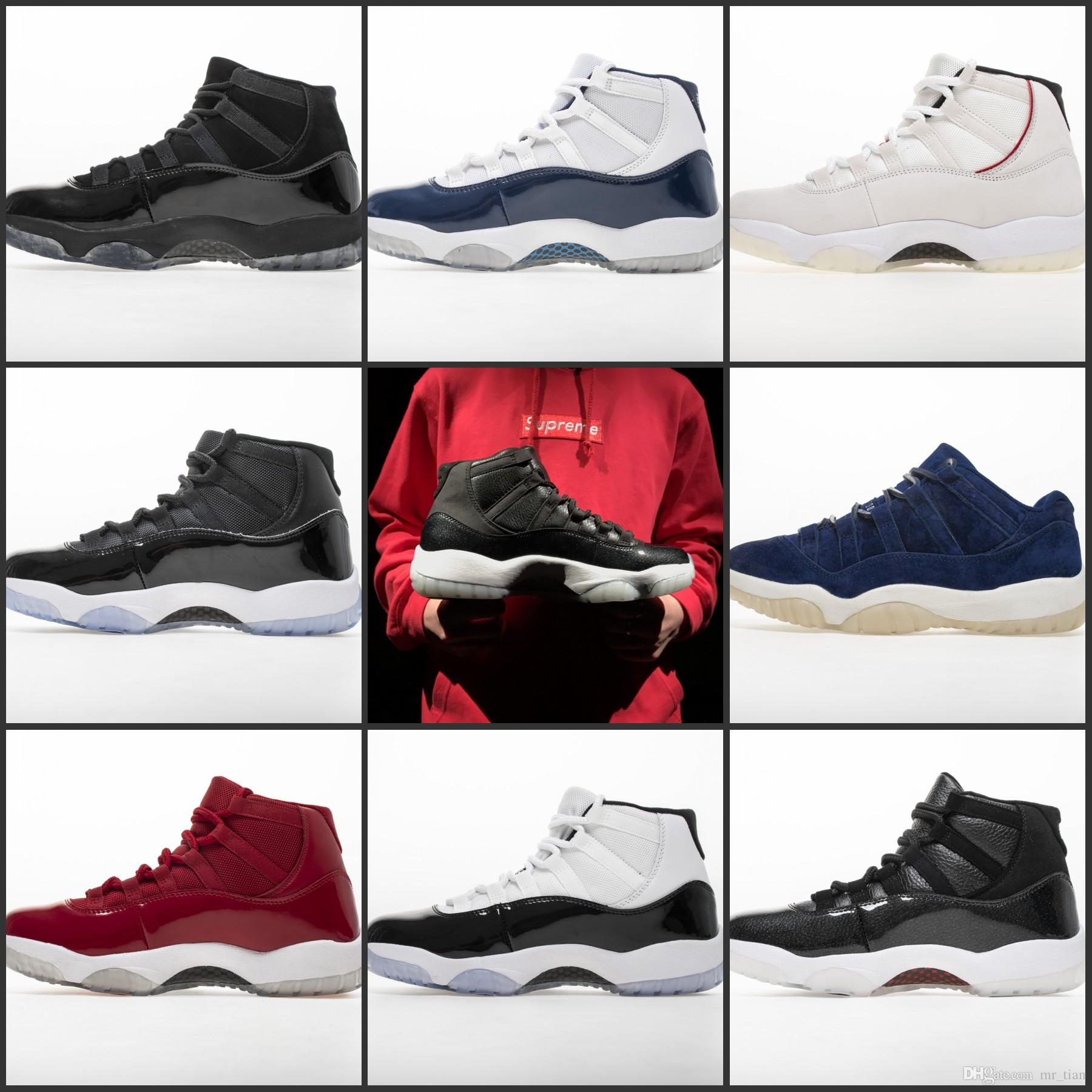 best service de110 eefc3 Nike Air Jordan 11 Retro 2019 Concord High 45 11XI 11S Gorra PRM Heiress  Gym Red Chicago Platinum Tint Space Jams Hombres Y Mujeres Zapatillas De  Baloncesto ...