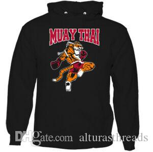 Mens Muay Thai Tiger Hoodie MMA Mixed Martial Arts BJJ Top UFC KiO-Neck Boxing Kit