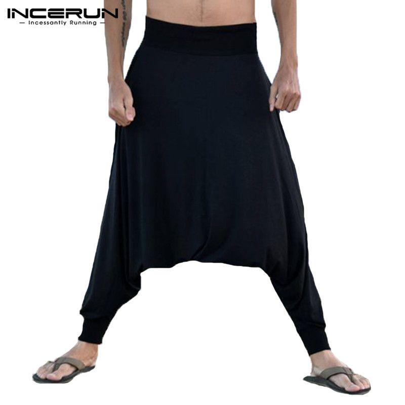 8d05c1b1d4583 2019 INCERUN Casual Harem Pants Men Joggers Drop Crotch Hip Hop Trousers Men  Women Yoga Pants Loose Workout Thai Pants 2019 S 5XL From Meicloth, ...