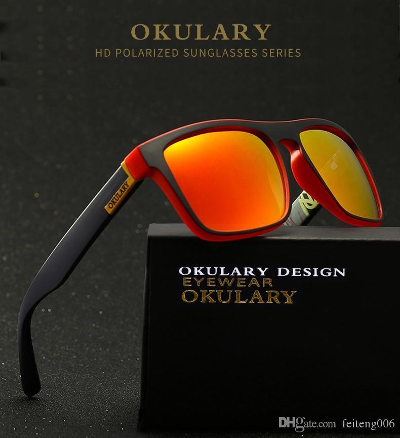 2e9b043ac4 OKULARY Gafas De Sol Polarizadas Hombres Mujeres Recubrimiento Reflectante  Gafas De Sol Cuadradas UV400 Conducción Pesca Deporte Gafas Sin Estuche #  15974 ...