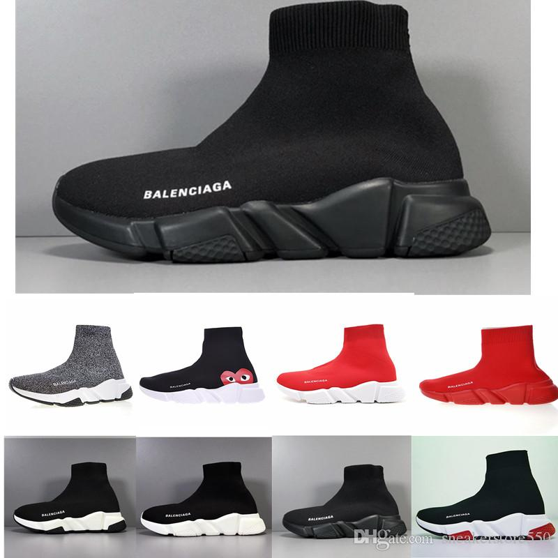 2019 ACE casual sock Shoes Brand Speed Trainer Black Red Triple Black Fashion Socks Boots Sneaker Trainer shoes 36-45 A85 WT5188