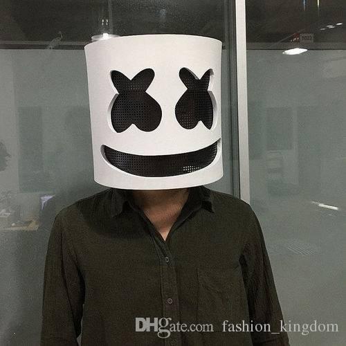 Marshmello Dj Mask Full Head Helmet Cosplay Mask Bar Music Props