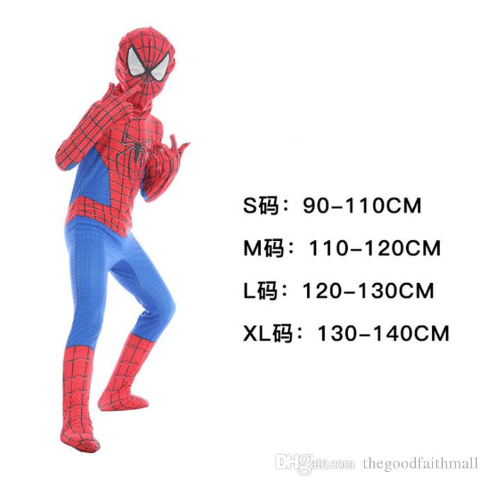 2019 new role playing mask clothes and pants Halloween High Quality Spiderman Wonder Woman Set Child role playing costume