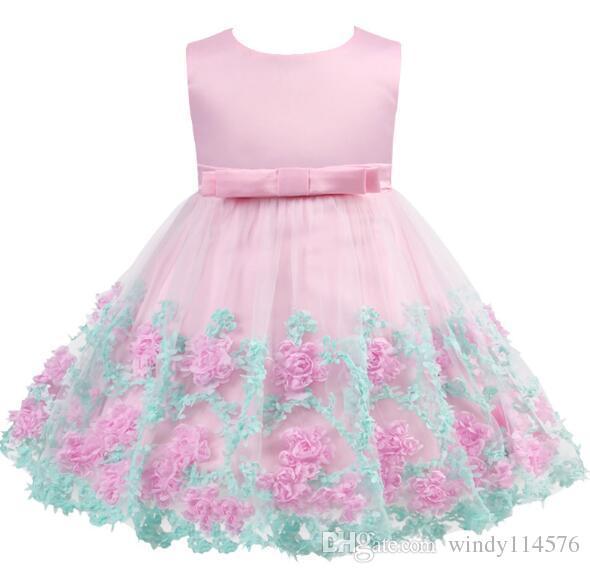 024dd4392 Vestido de niña 2019 Nueva Princesa Vestidos de Fiesta Infantiles para  Niñas Verano Niños vestido de tutú Ropa de Bebé Ropa de Niña Pequeña