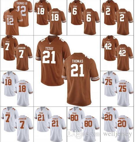 Mens Texas Longhorns 6 Devin Duvernay 34 Connor Williams 10 Vince Young 12 Colt McCoy College Football jersey stitched Jerseys