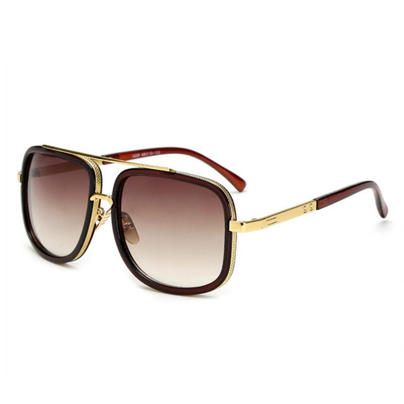 89503910d823a Compre Hot Designer Homens Óculos De Sol De Boa Qualidade Óculos Quadrados  De Proteção UV Moda Masculina Óculos De Luxo Retro Full Frame Óculos De Sol  De ...