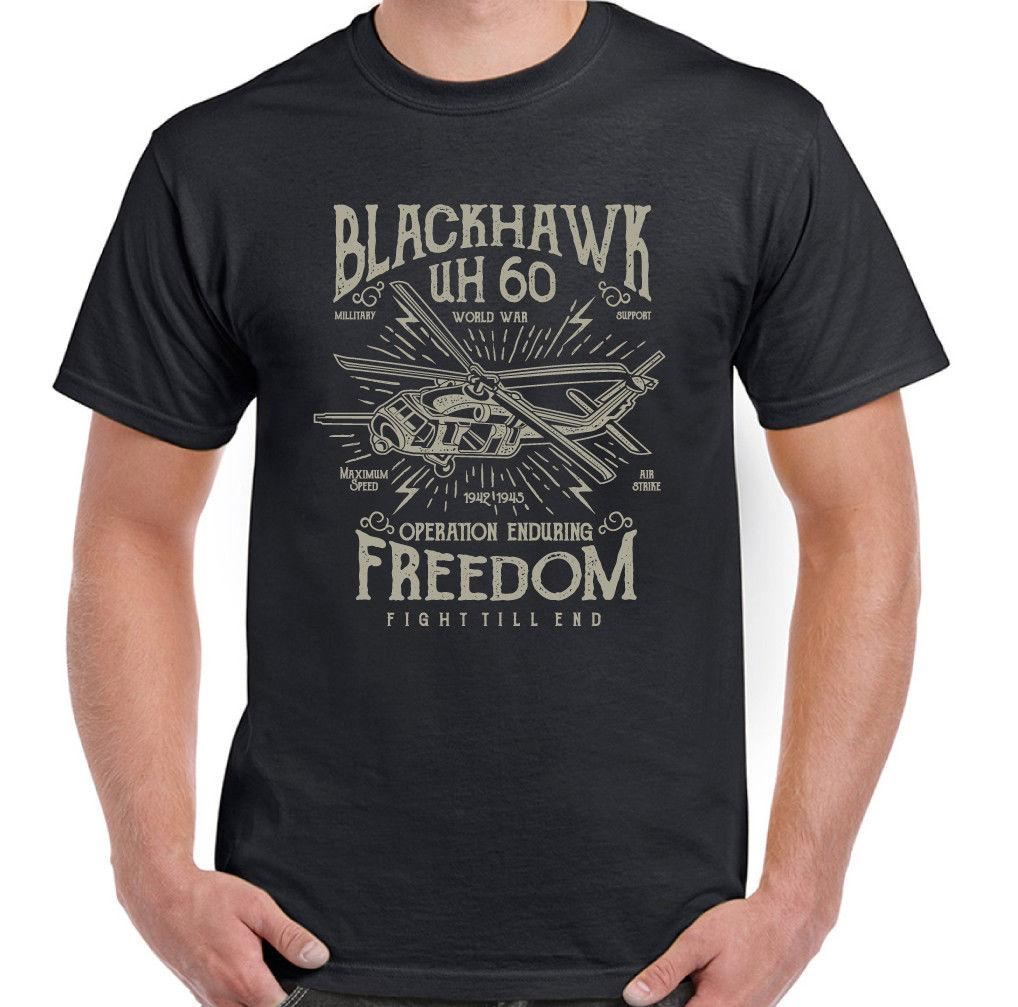 Blackhawk Down Mens Helicopter T-Shirt Movie Military RAF USAF Chopper Huey FilmFunny free shipping Unisex Casual Tshirt