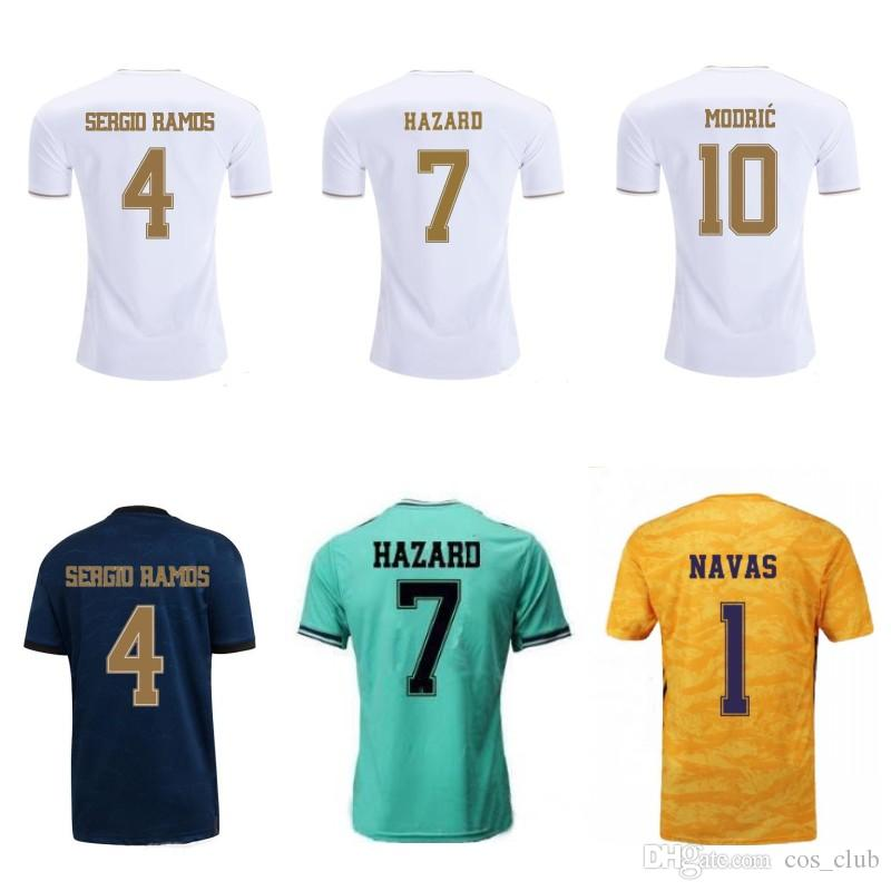 19 20 real madrid football shirt hazard jersey KROOS MODRIC BALE home away third goalkeeper soccer tops kits mens sportanzug goalie uniforms