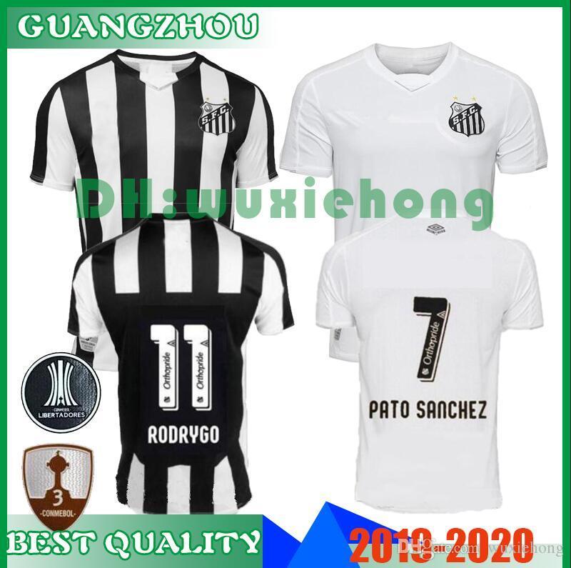 597bb55b116 2019 2019 2020 Santos FC Soccer Jersey Top Quality 19 20 Santos Home Away  Gabriel RODRYGO DODO RENATO SASHA Football Jerseys Uniforms Shirt S XXL  From ...
