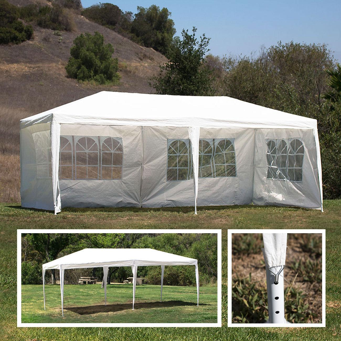 Outdoor 10\'x20\' Canopy Party Wedding Tent Heavy Duty Gazebo Pavilion Cater Event