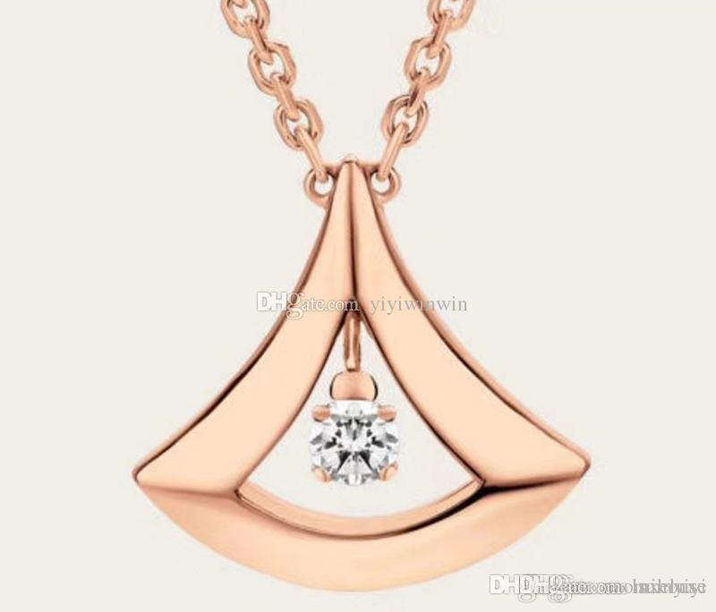 ladies necklace womens jewelry luxury lady 925 Silver Italy BV collana  pendants gold chain pendentif ladies collier femme original box