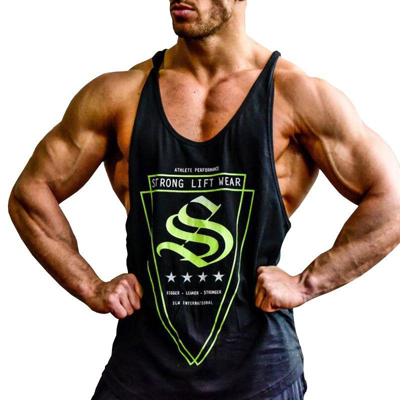 174e68f53ec00 Men Bodybuilding Sleeveless Strong Life Wear Muscle Tank Tops Undershirt  Boy Vest New Brand Clothing Workout Vest Back Tank Top 10 T Shirts Cool  Shirts ...