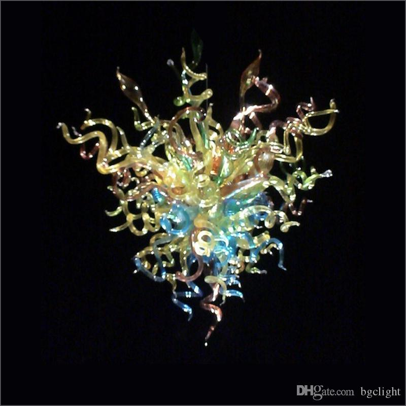 Wedding Centerpieces Multi Color Mouth Blown Borosilicate Pendant Lamps Hand Blown Glass Chandelier for Hotel Home Art Decoration