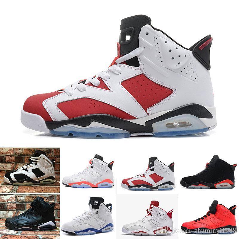 1071c9e3 Купить Оптом 2019 Nike Air Jordan 6 Retro Новый Разводили Мужчин 6 6 S  Баскетбол Обувь Tinker UNC Черный Кот Белый Инфракрасный Красный Кармин  Торо Мужские ...