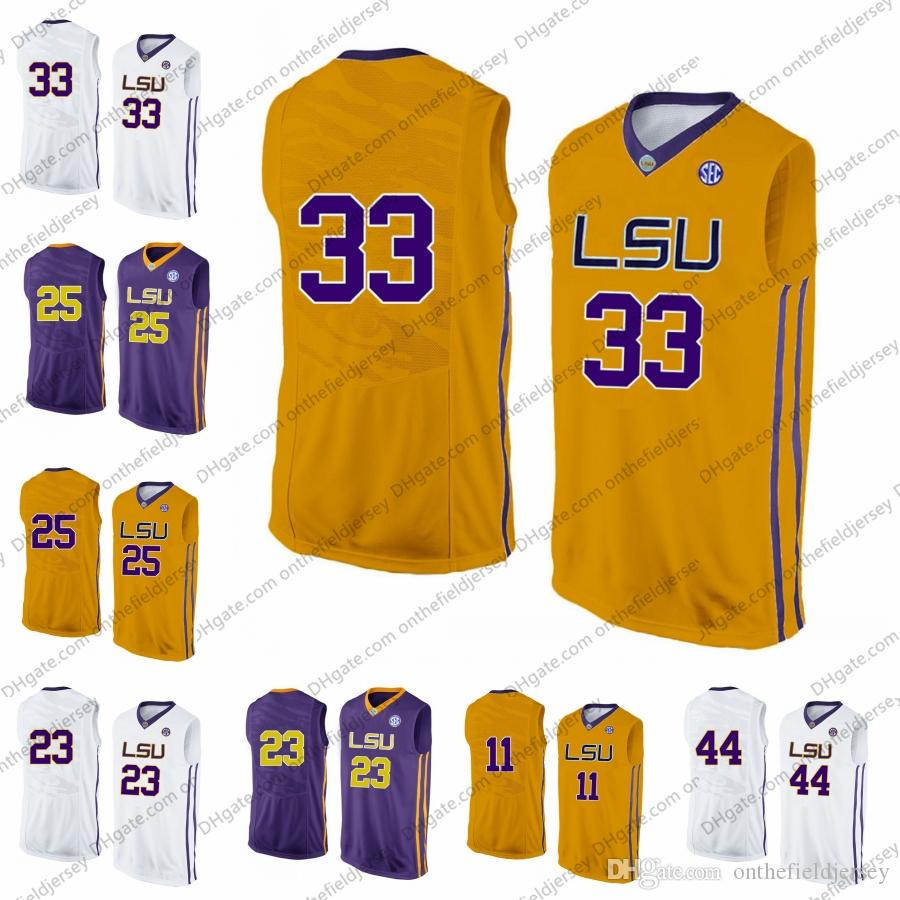 dafad217dec8 2019 2019 LSU Tigers Basketball Jersey Shaquille Ben O Neal Simmons Vintage  Pete Purple Maravich 44 Wayde Sims 11 Kavell Bigby Williams S 3XL From ...