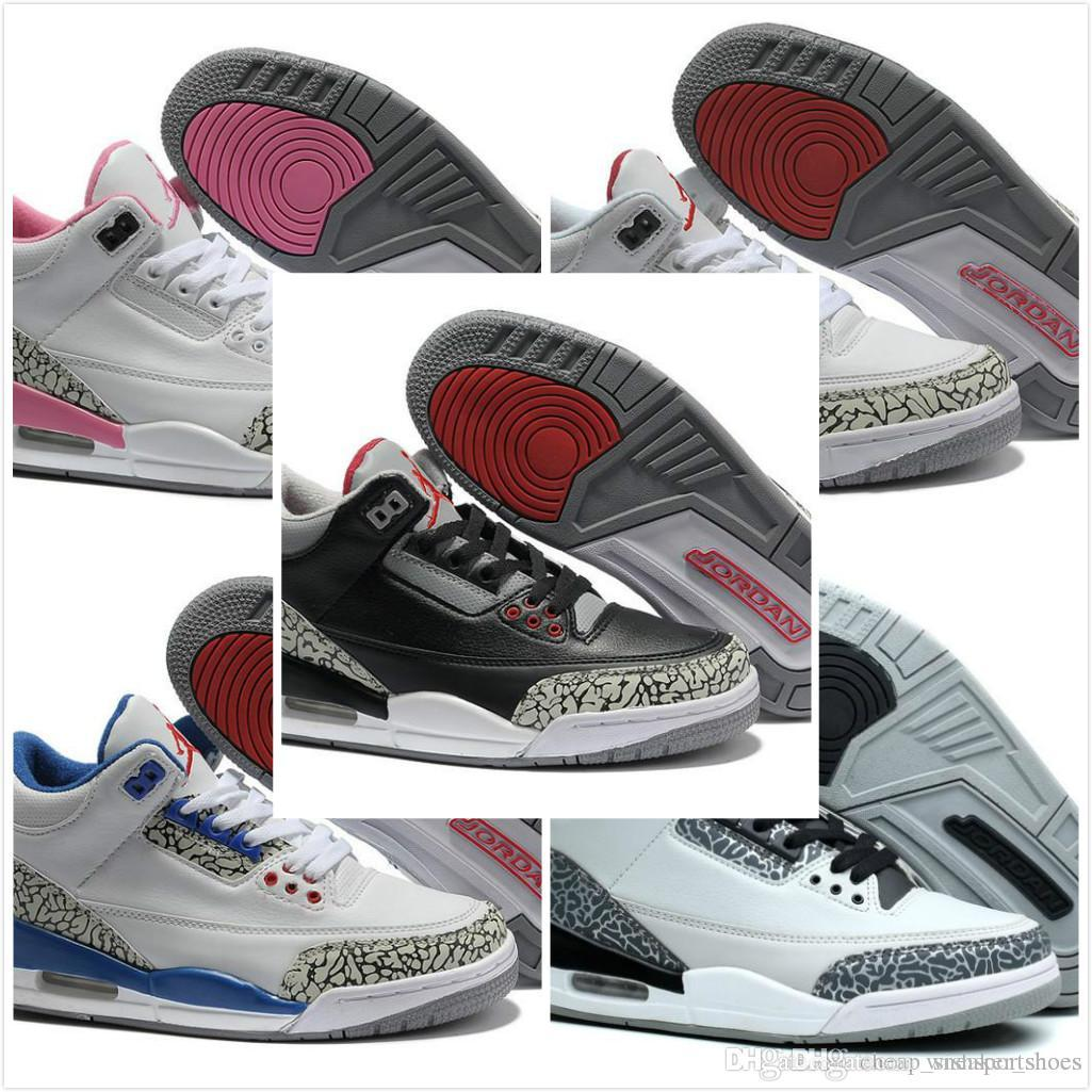 the latest 264f6 92669 2018 shoes 3 white black cement infrared 23 basketball shoes sneakers for  men designer 2017 GS wolf grey Advanced Quality Version size 8-13