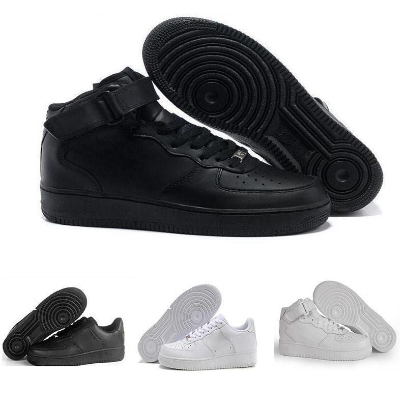 best service 319c5 e4a06 Acquista 2018 Nike Air Force 1 Leather AF1 New Classical 1 Bianco Nero Low  High Uomo Donna Sneakers Sportive Scarpe Da Skateboard Una Scarpa Da Corsa  Taglia ...