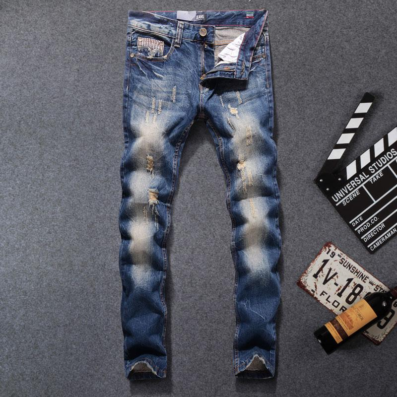 2017 New Arrival Fashion Men Jeans Straight Fit Leisure Quality Biker Jeans Denim Trousers Dsel Brand Ripped Jeans men