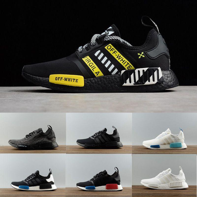 0c3d90dbc39ac 2019 2019 Discount Cheap Pink Red Gray NMD Runner R1 Primeknit PK Low Men S    Women S Shoes Classic Fashion Sport Shoes Men 40 45 From Yan1229