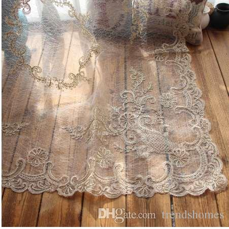 DHgate.com & luxury lace table cloth yarn fabric placemats for living room decor solid multifunctional rectangle table cover tablecloths