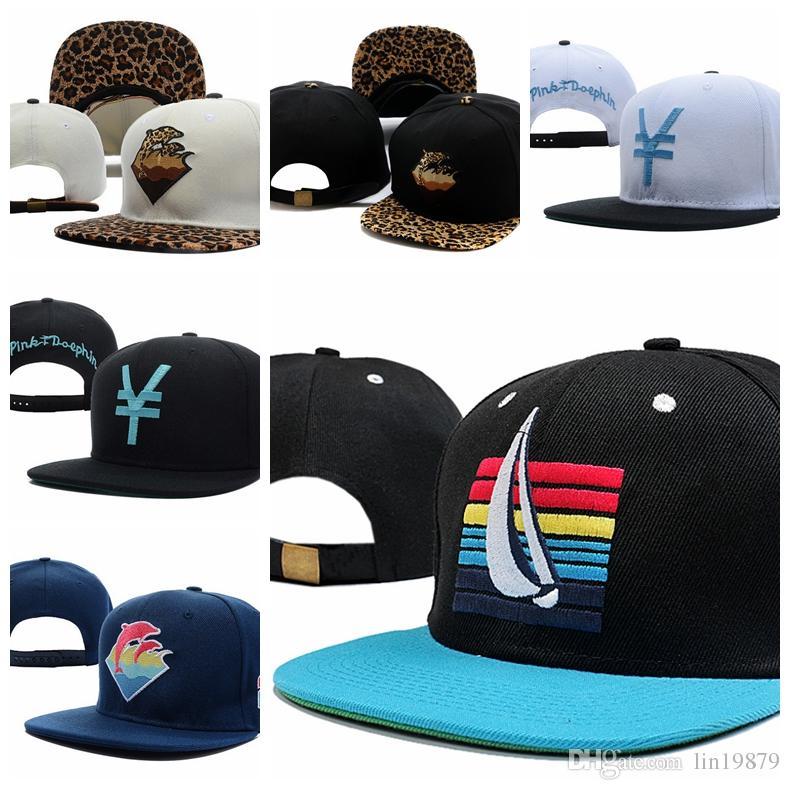 d61fe68689a Pink Dolphin Leopard Strapback Baseball Caps Casquettes Chapeus Unisex  Spring Summer Hip Hop Men Women Wholesale Snapback Hats Flat Bill Hats  Baseball Hat ...