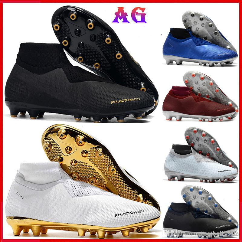 62881901a 2019 Original Mens High Ankle Football Boots Phantom VSN Elite DF AG Gold Soccer  Shoes PSG Phantom X Vision FG Soccer Cleats Outdoor Best Running Shoes For  ...
