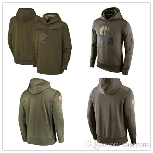 4b6753bd6 Men S Cleveland Men Browns Jersey Fashion Movement Olive Salute To Service  Pullover Football Hoodie 2018 2019 NEW UK 2019 From Soso01